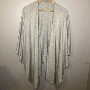 LOFT Light Gray Wrap Shawl Cover Up